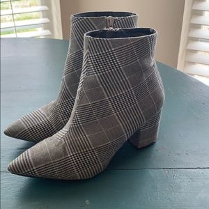 Forever 21 plaid booties